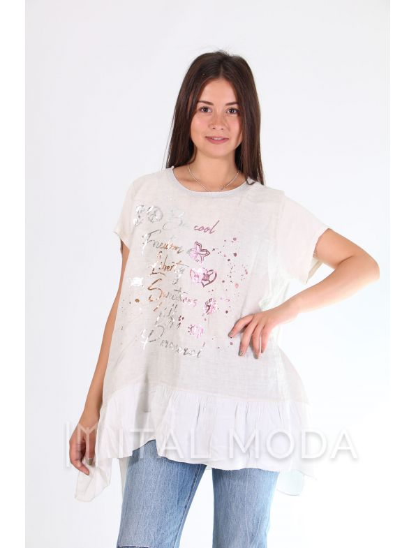 Футболка туника New Collection 7982